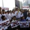 Les birmans s'opposent à la construction d'une digue