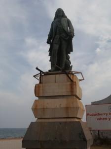 Statue de Dupleix à Pondichéry