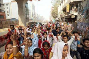 grève d'ouvrier textile - bangladesh