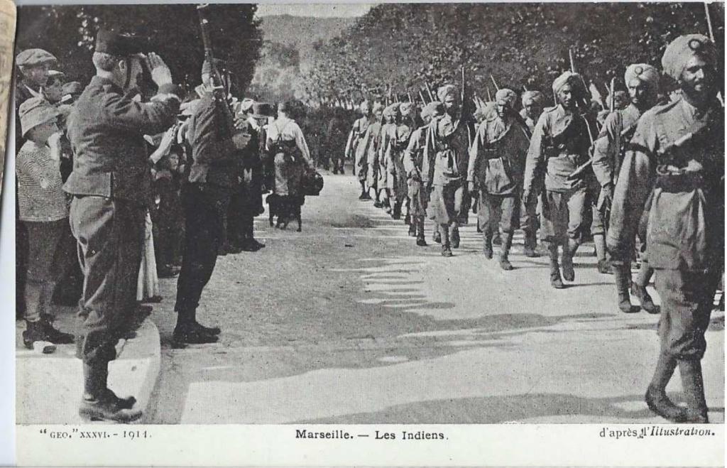 Troupes indiennes à Marseille